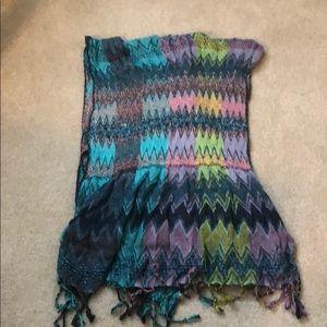 Beautiful knit chevron scarf